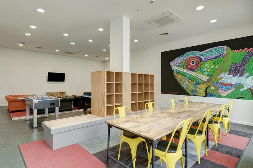 The social space at Sharman Court in Sheffield.