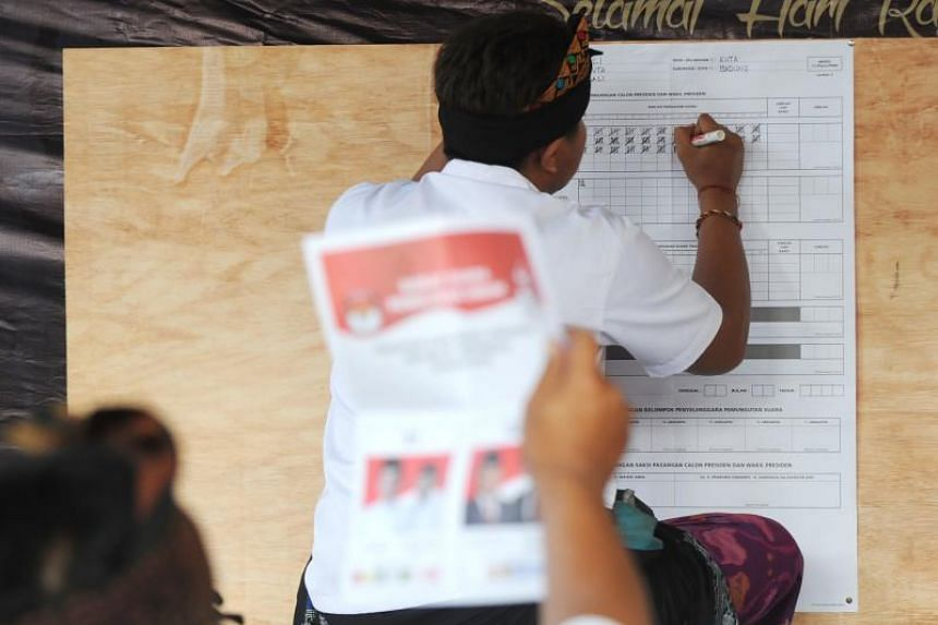 Quick counts by Jakarta-based Poltracking Indonesia gave incumbent Joko Widodo the widest winning margin, with 55.5 per cent over his rival Prabowo Subianto's 44.5 per cent.