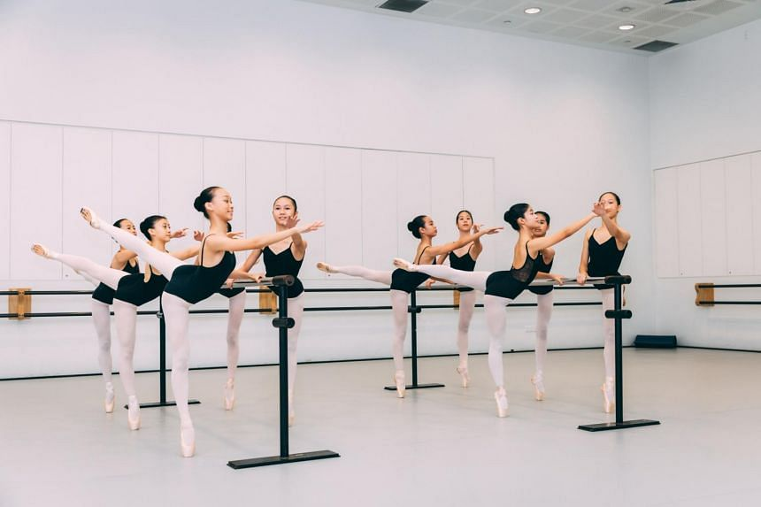Ballet students at the Singapore Dance Theatre.