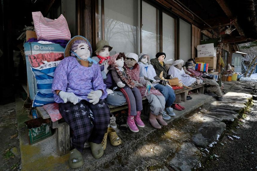 Nagoro has become known as the valley of dolls after a resident began placing scarecrows on the street to inject some life into her depopulated village.