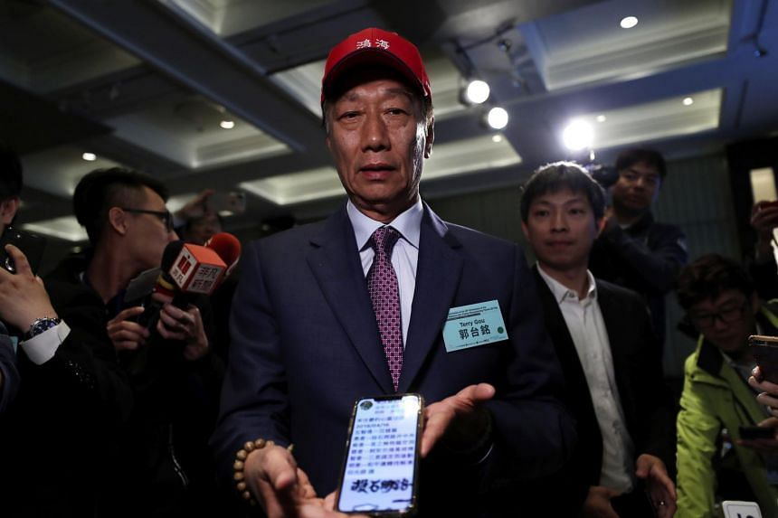 Foxconn founder Terry Gou attending the 2019 Indo-Pacific Security Dialogue in Taipei, Taiwan, on April 16, 2019.