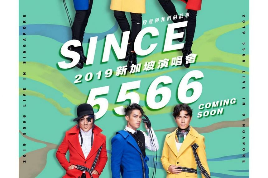 Taiwanese boyband 5566 will return to Singapore after 17 years on July 6