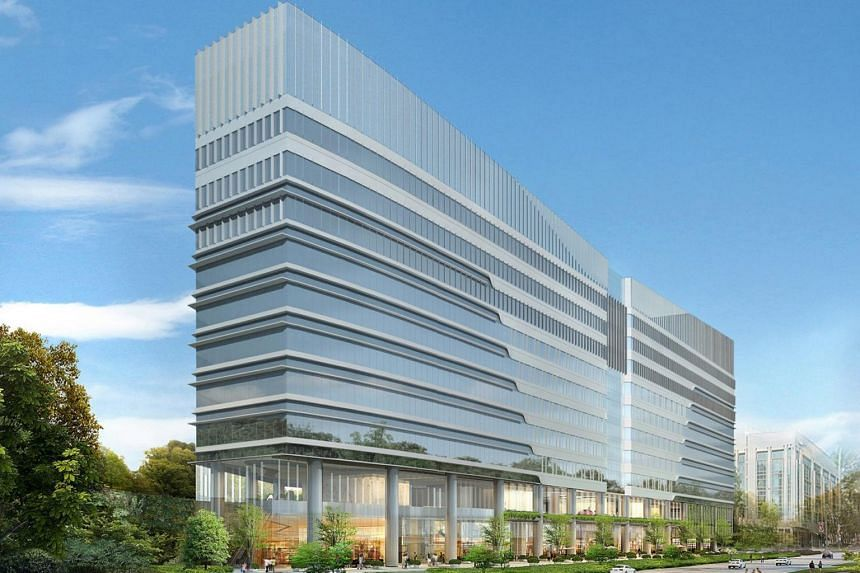 An artist's impression of 9 Penang Road, a commercial development by SingHaiyi Group and its joint venture partners Suntec Reit and Haiyi Holdings.