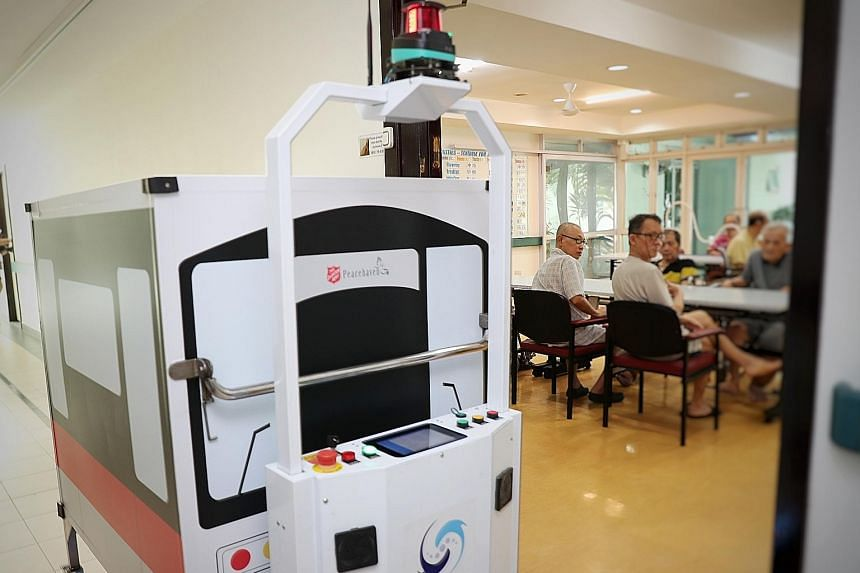 Peacehaven Nursing Home's automated guided vehicles were officially launched on Tuesday after a one-year trial as part of a national drive to get nursing homes to automate and use technology more effectively.
