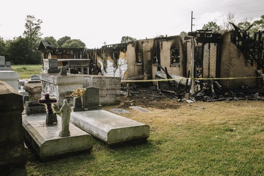 The remains of the Greater Union Baptist Church in Opelousas, which burned on April 2, 2019.
