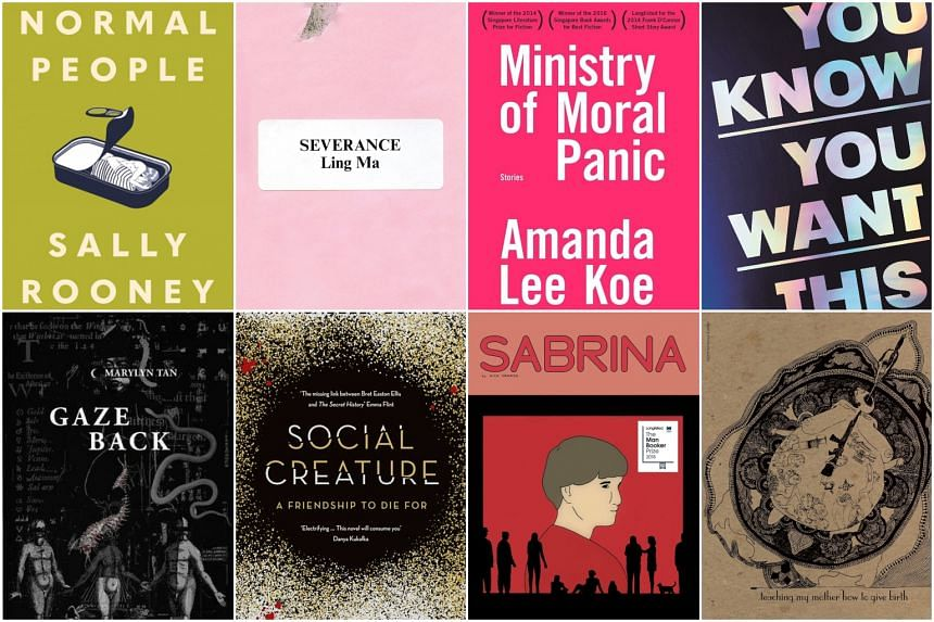 A reading list that captures the millennial voice. (Clockwise from top left) Normal People by Sally Rooney, Severance by Ling Ma, Ministry Of Moral Panic by Amanda Lee Koe, You Know You Want This by Kristen Roupenian, Teaching My Mother How To Give B