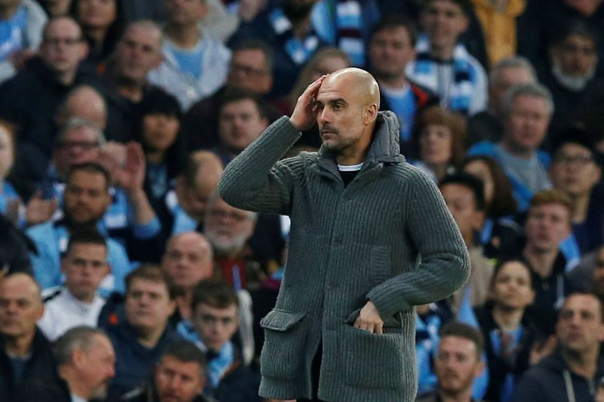 Guardiola during the Champions League match against Tottenham.