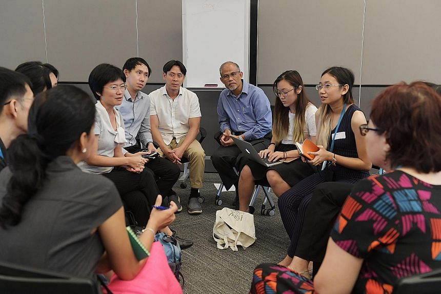 The Ministry of the Environment and Water Resources, in partnership with Zero Waste Singapore and LepakInSG, holding a focus group discussion at the Environment Building yesterday, with Minister Masagos Zulkifli and MP Louis Ng in attendance.