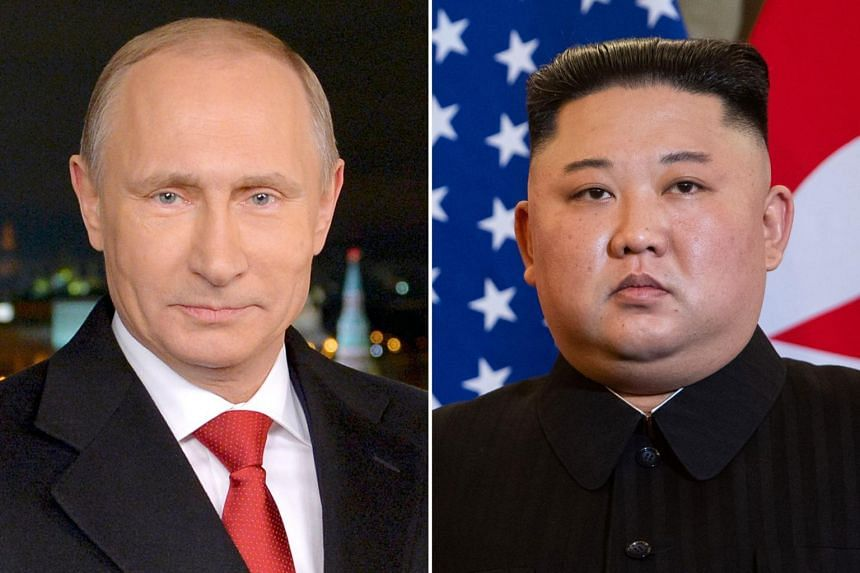 Now Russia's Vladimir Putin (left), who has long expressed his readiness to meet with North Korean leader Kim Jong Un, is gearing up to play a bigger role in nuclear negotiations with Moscow's Cold War-era ally.