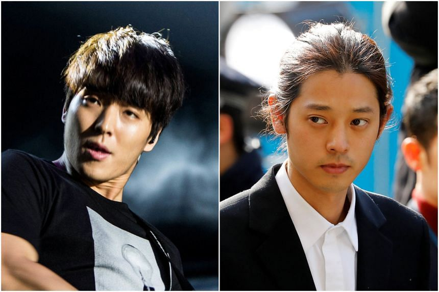 After verifying the facts with the reporter who broke the scandal, the woman, only identified as A, is now convinced she was gang-raped by five men, including singer Choi Jong-hoon (left) and singer Jung Joon-young, whom she had known since 2012.