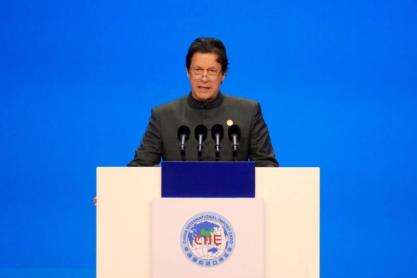 Pakistani Prime Minister Imran Khan at the opening ceremony for the first China International Import Expo in Shanghai, China, on No 5, 2018.