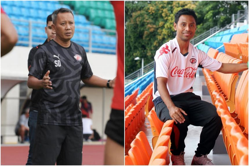 Home United announced the mutual termination of head coach Saswadimata Dasuki's (left) contract on April 19, 2019, while  assistant coach Noh Rahman will take over on an interim basis.
