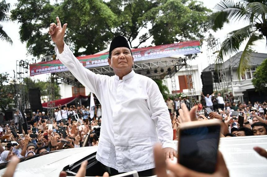 Presidential hopeful Prabowo Subianto was greeted by more than a thousand supporters chanting his name and calling him president, when he returned to his home in South Jakarta after noon prayers on April 19, 2019.
