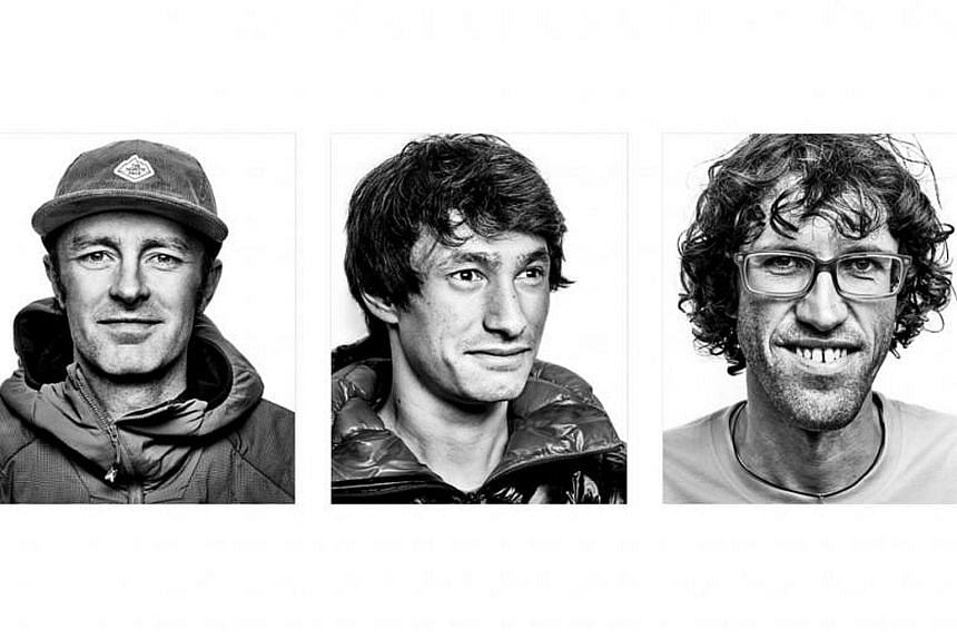 Athletes (from left) Jess Roskelley, 36, David Lama, 28, and Hansjorg Auer, 35, who went missing on Tuesday in Banff National Park, were trying to climb Howse Pass' east face.