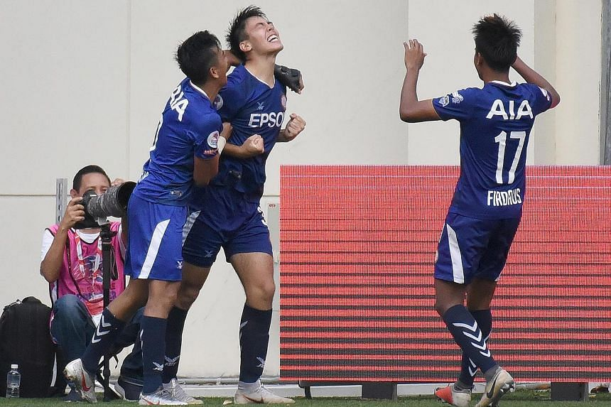 Geylang International striker Vasileios Zikos Chua was overcome with emotion when he scored against the Young Lions last Sunday, becoming the third-youngest scorer in 24 years of the S-League/ Singapore Premier League.