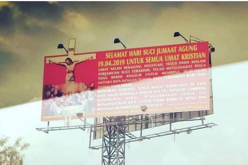 Former Parti Pribumi Bersatu Malaysia women's chief Anina Saadudin had questioned the use of billboards to convey well-wishes to Christians in Sabah.