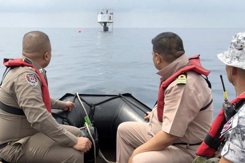 The Royal Thai Navy task force had planned to seize the structure and tow it back to shore for use as evidence, but it was still studying how to move it without destroying it by the afternoon on April 20, 2019.