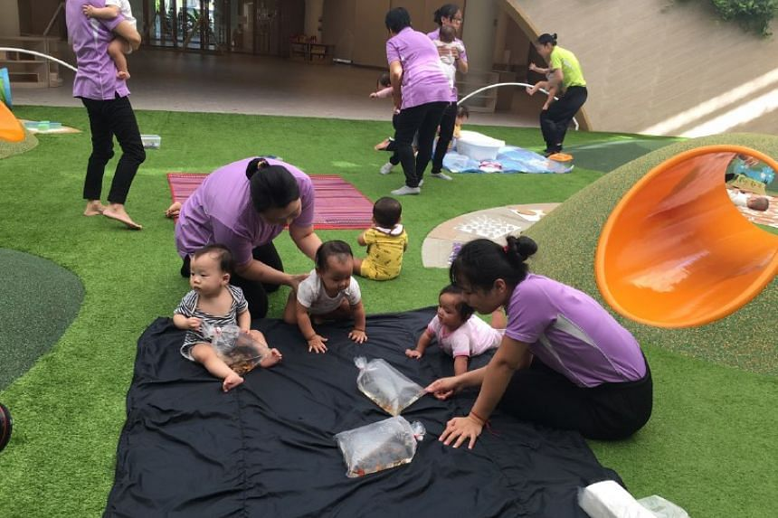 The infant play area at PCF Sparkletots @ Punggol North.