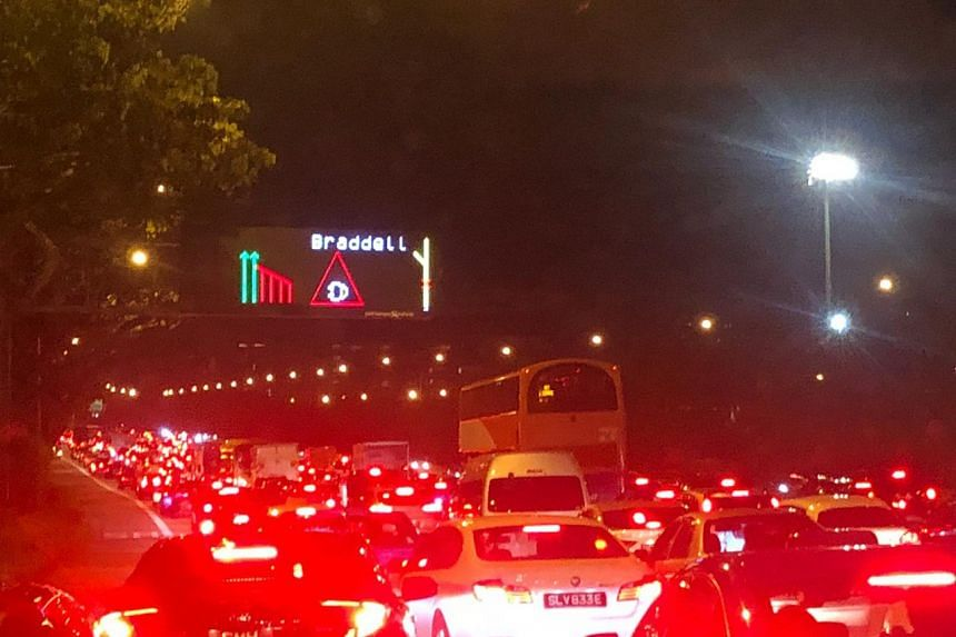 The accident resulted in heavy traffic on the Central Expressway.