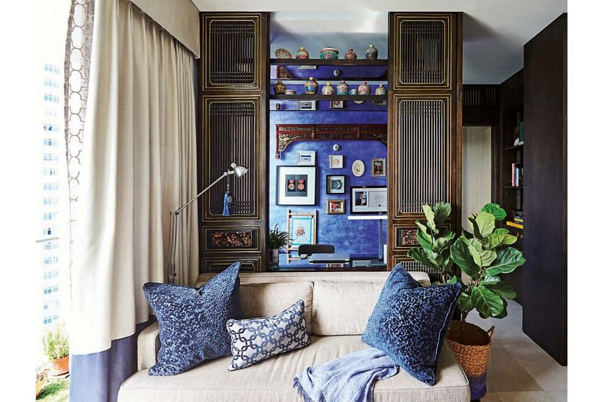 To make the most of a small space, furniture in the apartment serves multiple functions. This includes the sofa, which can double as a sofa bed.