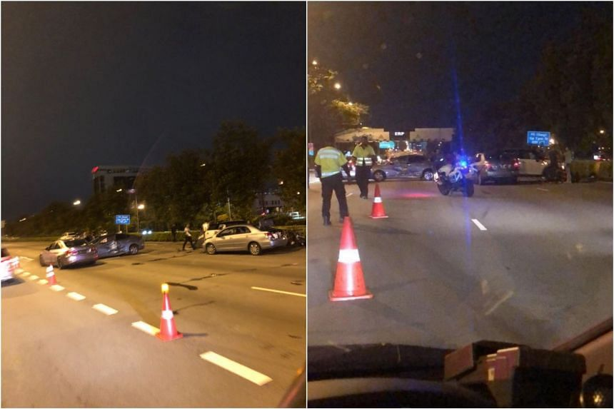 An accident involving a motorcycle and four cars on the Central Expressway occurred on April 19, 2019.