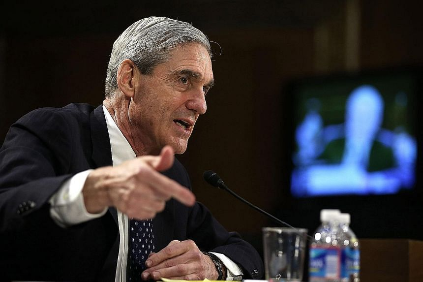 """The fact that some of the notes from White House aides were the primary source material for Mr Robert Mueller's (above) report angered Mr Trump, who said they were """"fabricated and totally untrue""""."""