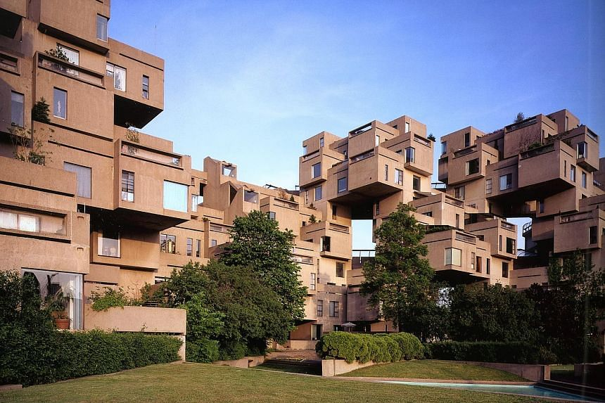 Mr Safdie found success in his 20s with his experimental Habitat 67 housing development in Montreal which used identical, prefabricated concrete forms.