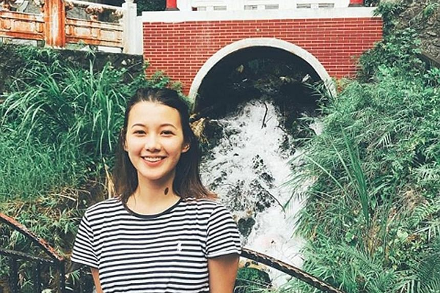 Third-year NUS undergraduate Monica Baey, 23, was taking a late-night shower in a Eusoff Hall bathroom last November when a male student held an iPhone underneath the door to film her. She has called for stiffer action against the Peeping Tom on her