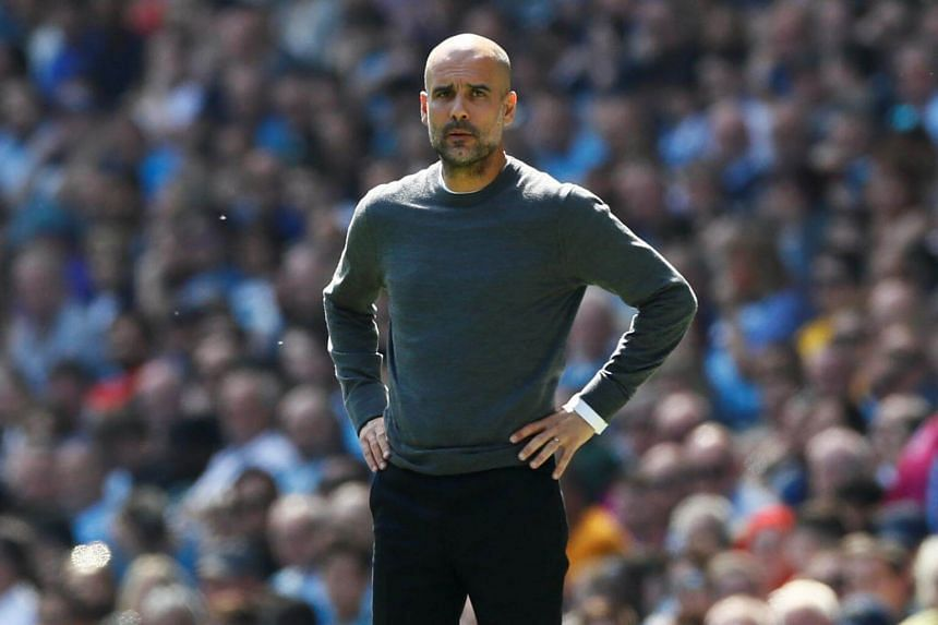 """Manchester City's manager Pep Guardiola admitted his relief that """"the title is still in our hands as we could have lost the Premier League today""""."""