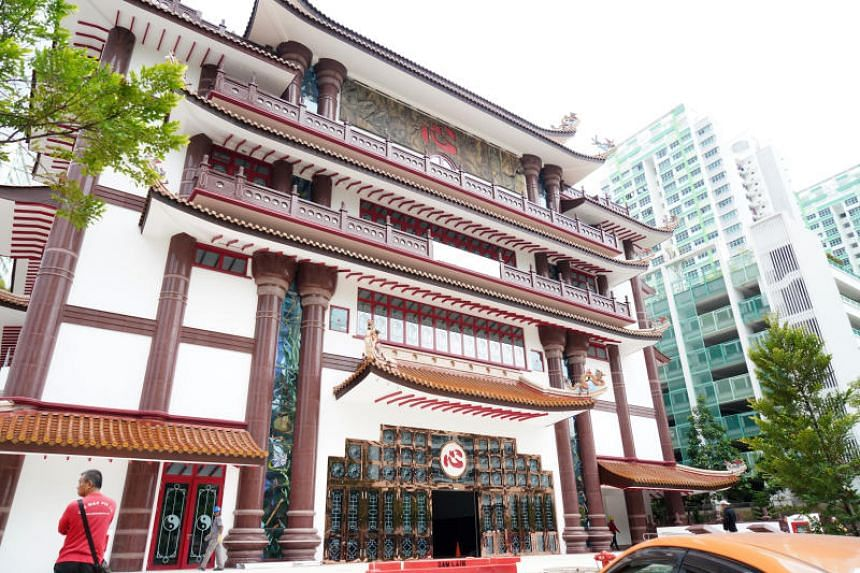 The new temple in Sengkang West, opened by the Thye Hua Kwan Moral Society, will house a library with books on various religions and host talks and dialogues involving different religious leaders and groups.