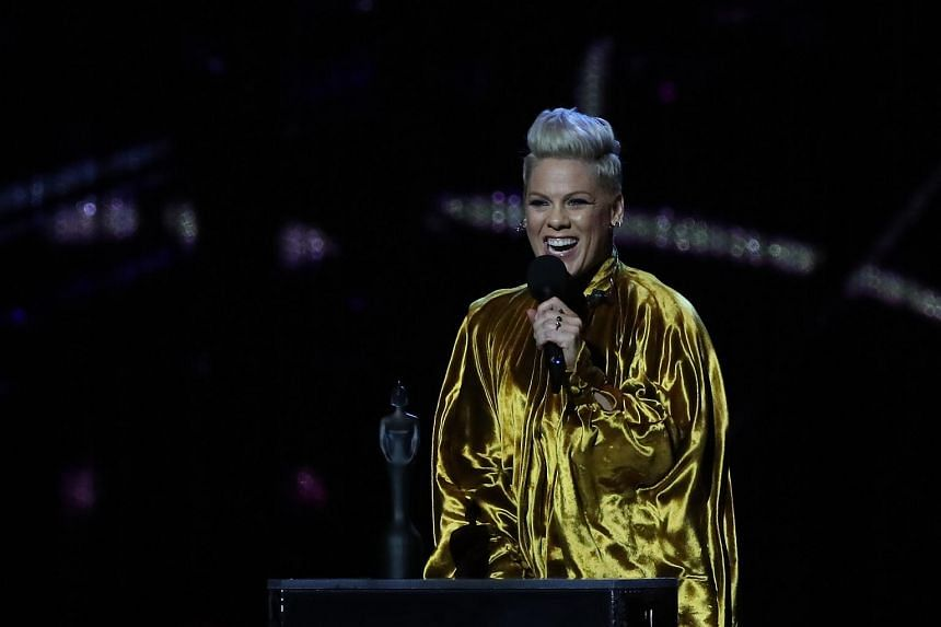 Pink says she won't post about her family after hateful comments