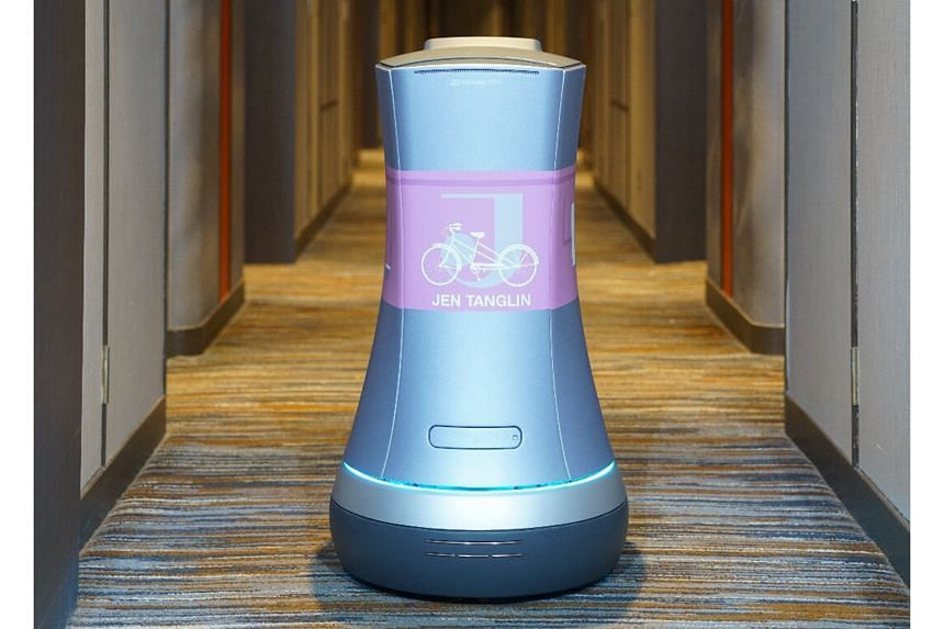 The room service robot JENA is the first robot of the Shangri-La Group in Singapore, provided by StarHub in partnership with industry-leading experts. PHOTO: SHANGRI-LA GROUP
