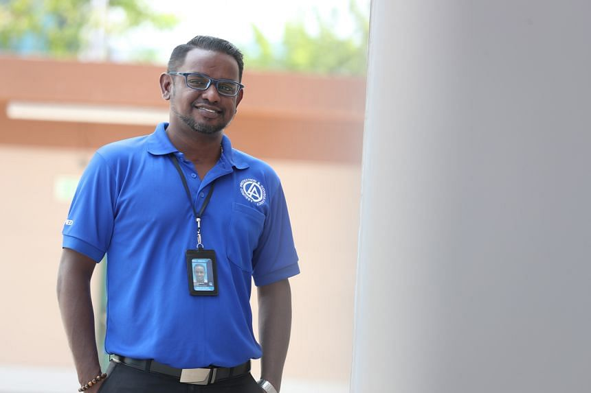 Security operations controller Stephen Muthu Thavidy was spat on three times by a deliveryman who also hurled vulgarities at him for not being allowed to go up to a condo unit.