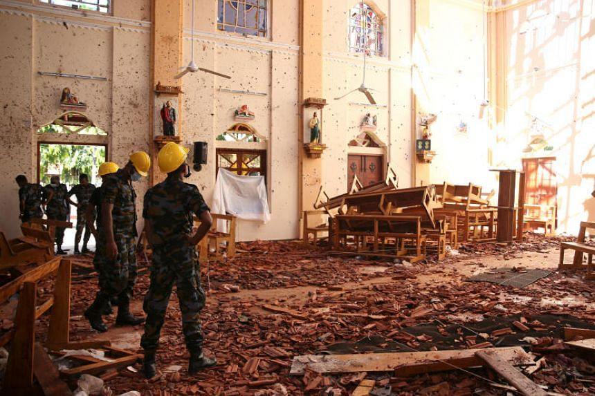 St. Sebastian Catholic Church was one of those damaged by bomb blasts that ripped through churches and luxury hotels in Negambo, Sri Lanka, on April 21, 2019.