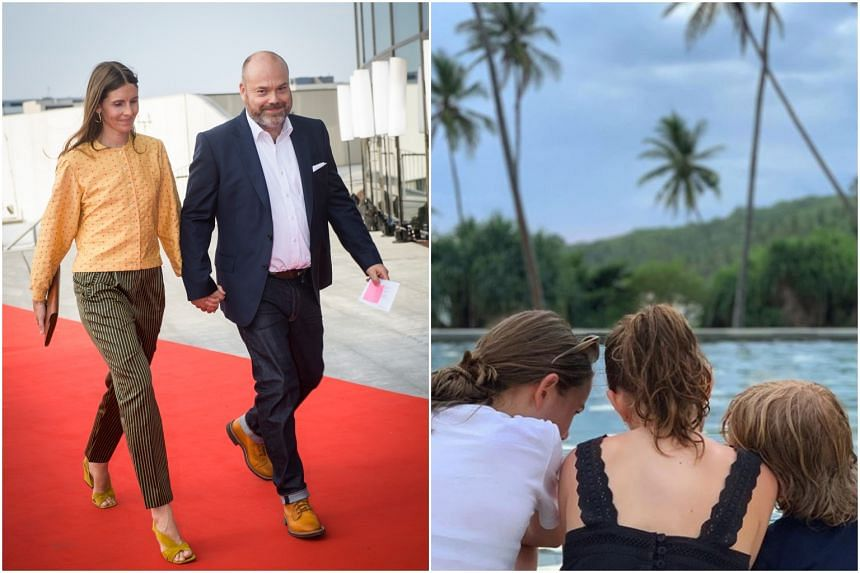 Denmark's richest man Anders Holch Povlsen and his wife lost three of their four children in the Easter Sunday attacks in Sri Lanka. One of Mr Povlsen's children posted a photo on Instagram (right) geo-tagged Sri Lanka on April 18, 2019.
