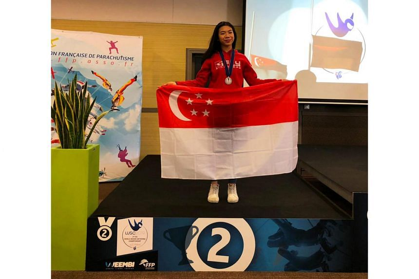 Indoor skydiver Kyra Poh brought home a silver medal from the FAI World Indoor Skydiving Championship.