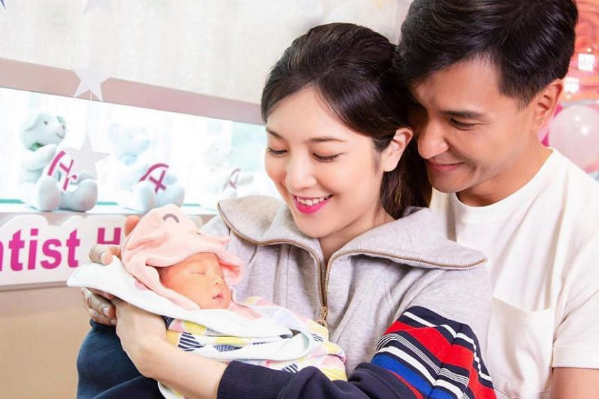 Hong Kong actor Ruco Chan and actress Phoebe Sin both posted a photo of their daughter Quinta on social media on April 21, 2019.