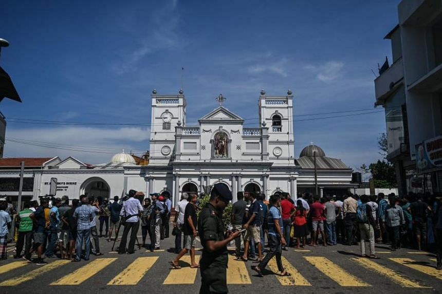 The St Anthony's Shrine in Colombo on April 22, 2019, a day after the building was hit in a series of bomb blasts targeting churches and luxury hotels in Sri Lanka.