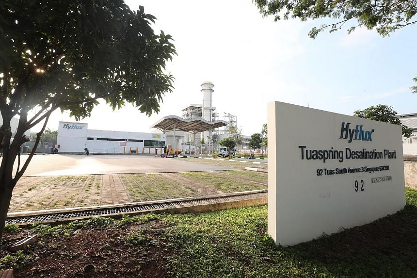 National water agency PUB said last week it will take over Hyflux's Tuaspring desalination plant on May 17.