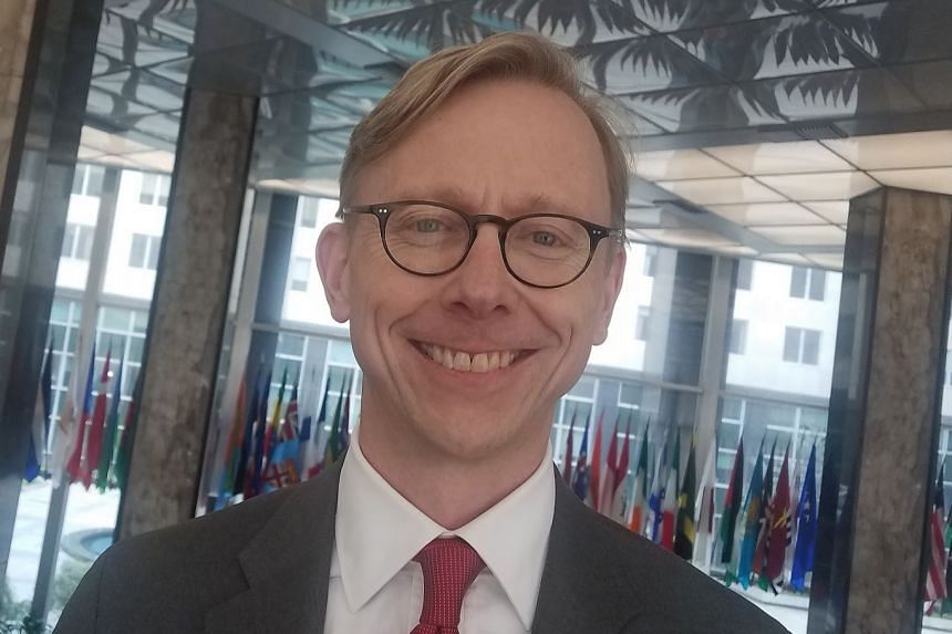 Special Envoy for Iran Brian Hook said nations can do business with the United States and the whole global financial system or import oil from Iran, but they cannot do both.