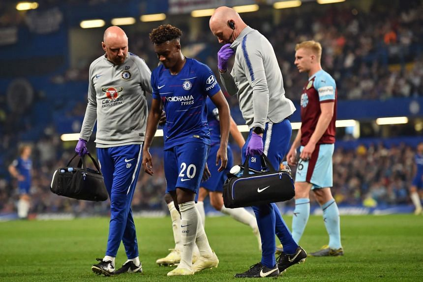 Chelsea winger Callum Hudson-Odoi limped off after sustaining the injury in the first half of the Premier League clash at Stamford Bridge.