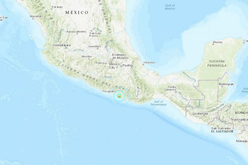 The earthquake occurred on the border of the states of Oaxaca and Guerrero in Mexico.