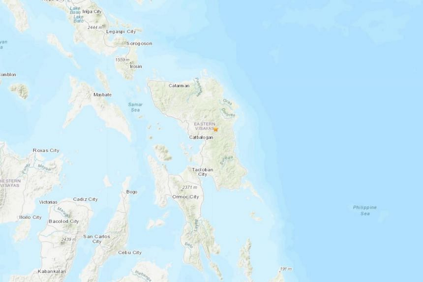 The quake hit struck the island of Samar in the Philippines. There were no immediate reports of casualties or damage.