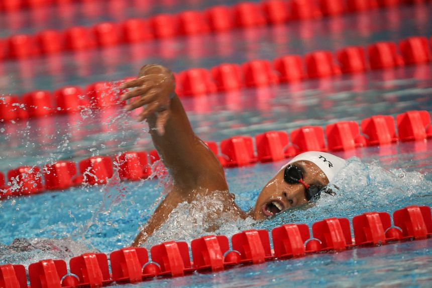 Outram Secondary School swimmer Ardi Zulhilmi Mohamed Azman splashes his way to the boys' B Division 1,500m title, clocking 16:41.05 at the OCBC Aquatic Centre yesterday.