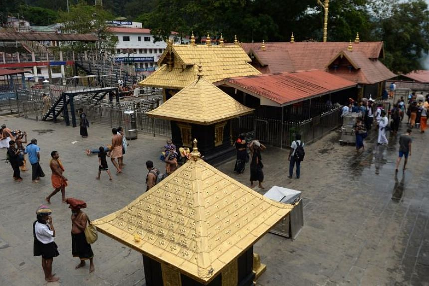 The Sabarimala Hindu temple, where two women finally defied a longstanding ban on women of menstruating age in 2018. Traditionalists were outraged and many women remain divided over the move.