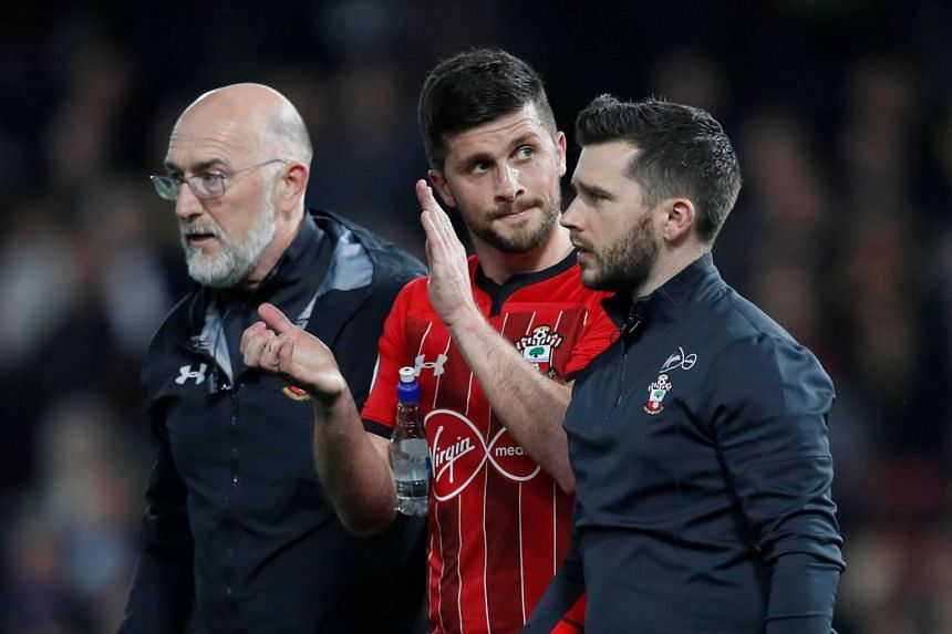 Southampton's Shane Long is substituted off.