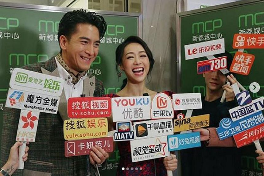 Kenneth Ma drew praise and respect from fans for not casting aside his girlfriend Jacqueline Wong (both above), who was caught kissing Andy Hui.