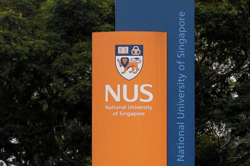 A signboard at the National University of Singapore.