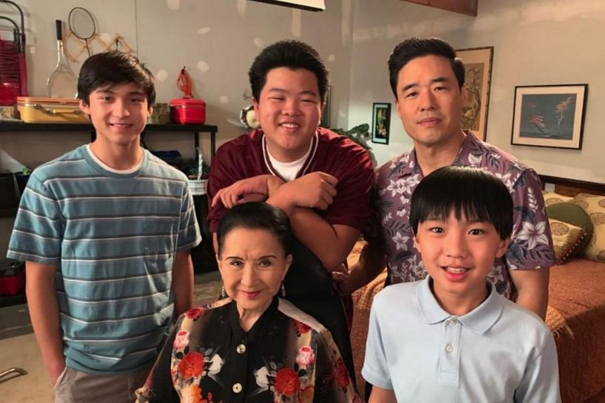 Cast of Fresh Off The Boat starring Randall Park (top right), who expected the series to the cancelled after season 1.
