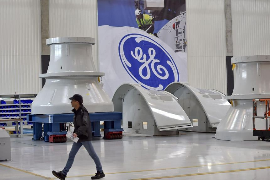 An employee at a factory of US company General Electric located in France.